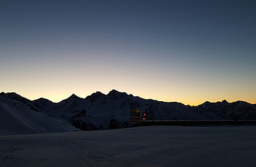 Sonnenuntergang Schönjoch