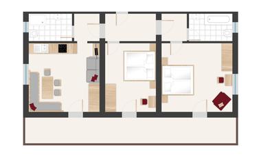 Pinzgerhof Fiss - Grundriss Wohnung 4