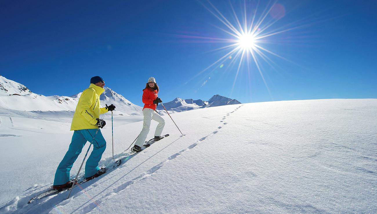 Schneeschuhwandern in Fiss