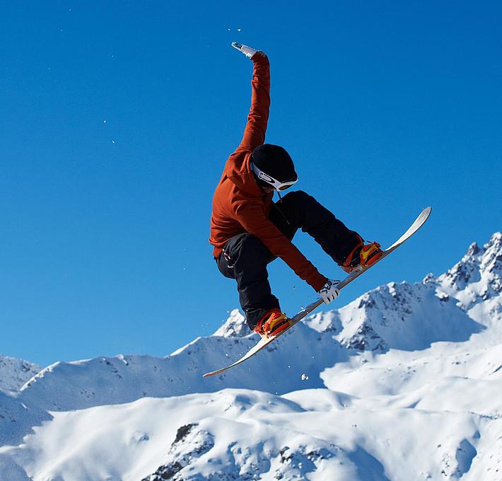 Snowboarden in Fiss in Tirol