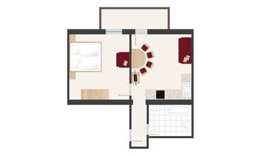Pinzgerhof Fiss - Grundriss Wohnung 1