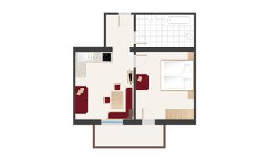 Pinzgerhof Fiss - Grundriss Wohnung 2